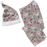 Women's Pajama Stocking Stuffer Microfleece Sleep Pants with Santa Hat - Walmart.com