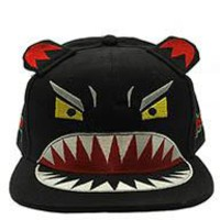 Angry MONSTER SNAPBACK  HAT / CAP  Black unique 1 adjustable