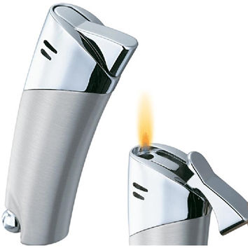 Visol Victoria Chrome Satin Traditional Flame Cigarette Lighter