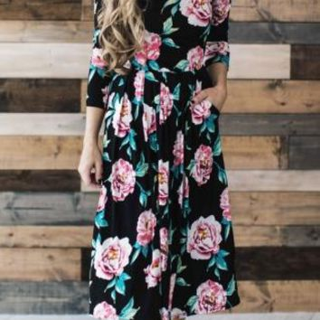 Summer Women Floral Print Sleeves Empire Waist Boho Dresses Femme Vestidos Ladies Evening Party Long Beach Maxi Dress