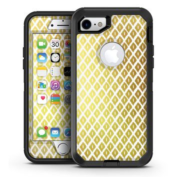 The Gold and White Marked Diamond Pattern - iPhone 7 or 7 Plus OtterBox Defender Case Skin Decal Kit