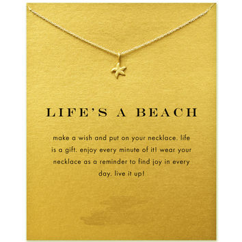 Life's A Beach Starfish Necklace