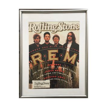 Framed Rolling Stone Magazine REM Issue JUNE 27TH 1991