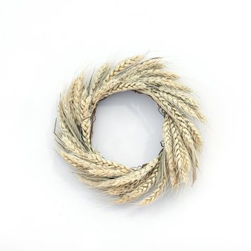 """8"""" NATURAL WHEAT CANDLE RING"""