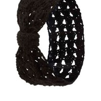 Open Knit Bow Head Wrap by Charlotte Russe