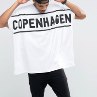 ASOS | ASOS Extreme Oversized T-Shirt With Copenhagen Print In Heavy Jersey at ASOS