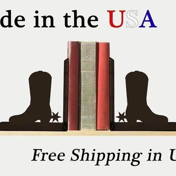 Cowboy Boots Bookends