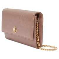 Gucci Petite Marmont Leather Continental Wallet on a Chain | Nordstrom