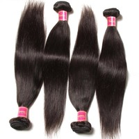 Malaysian Straight Hair Weaves 100% Human Hair Bundles 8-30 inch 100g/PCS Non-Remy Hair Extension