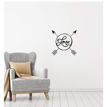 Vinyl Decal Wall Sticker Love Arrows Romantic Decor for Bedroom Girls Unique Gift (g132)