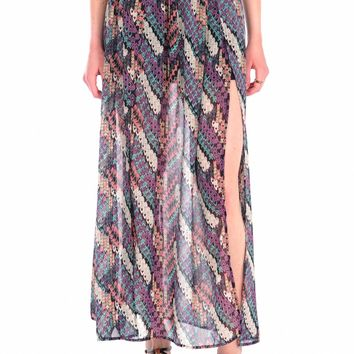 Blu Pepper Printed Maxi