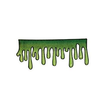 Creepy Zombie Dropping Slime Green Goo Applique Novelty Iron On Patch