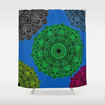 My Angel Spirit Mandhala | Secret Geometry Shower Curtain by Azima
