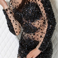 Mystic Crystal Evening Dress Black
