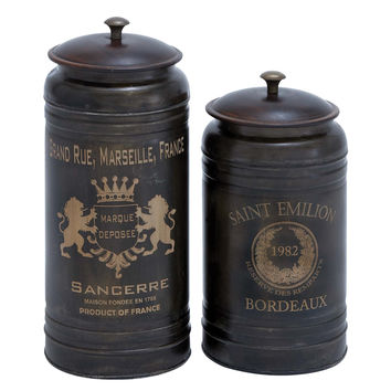 Harvey & Haley Canisters with Classic and Old-World Appeal - Set of 2