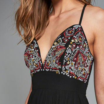 Womens Embroidered Maxi Dress | Womens New Arrivals | Abercrombie.com