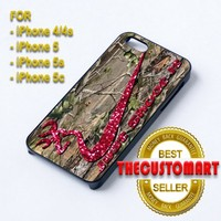 Nike just shoot it Camo Red Glitter - For iPhone 5 Black Case Cover