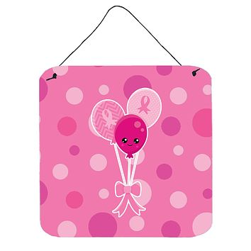 Breast Cancer Awareness Ribbon Balloons Wall or Door Hanging Prints BB6979DS66