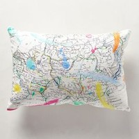 Cartography Pillow by Anthropologie Multi One Size Pillows
