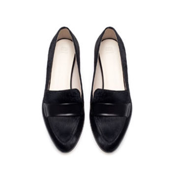 FUR POINTED MOCCASIN - Flats - Shoes - Woman | ZARA United States