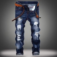 Slim Weathered Strong Character Jeans [10366810371]