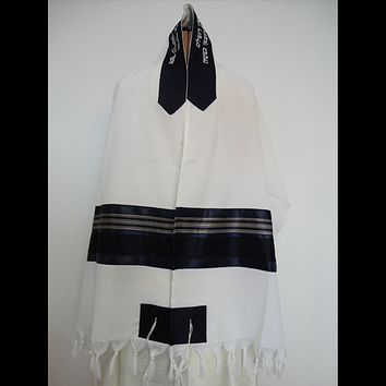 Wool Tallit for Bar Mitzvah (#114)