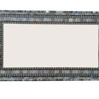 Gray Mosaic Mirror, Geometric Modern Home Decor
