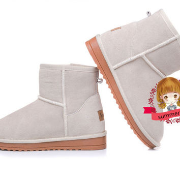Autumn and winter new style hot Increased in cotton shoes boots short boots Beige