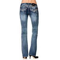Miss Me Women's Relaxed Embellished Boot Cut Jeans