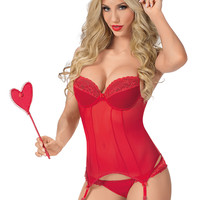 Heart Paddle Bustier