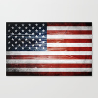 American Wooden Flag Canvas Print by Nicklas Gustafsson