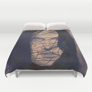 THE GIRL Duvet Cover by IN LIMBO ART | Society6