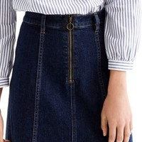 J.Crew Zip Front Denim Skirt | Nordstrom