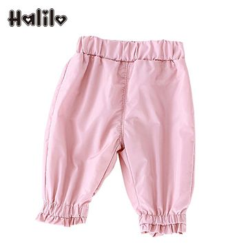 Halilo PP Baby Legging Plus Velvet Warm Winter Baby PP Pants Solid Color Boys Girls Trousers Infant Clothing Little Girls Pants