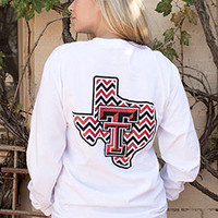 Chevron State White Long Sleeve