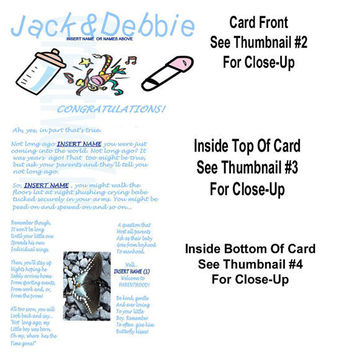 BABY SHOWER - Customized Reflective Story Card - OOAK Original