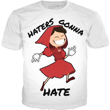 Haters Gonna Hate Funny Girl Finger up Tshirt
