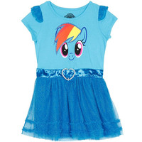 My Little Pony - Rainbow Dash Head Girls Juvy Tunic Dress With 3D Wings