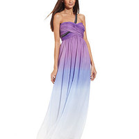 Calvin Klein Dress, Sleeveless One-Shoulder Ombre Gown - Juniors Prom Dresses - Macy's