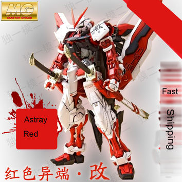 Daban Model MG Gundam Astray Red Frame MBF-P02 KAI 1 100 Japanese anime assembled Kits PVC Action Figures robots kids toys