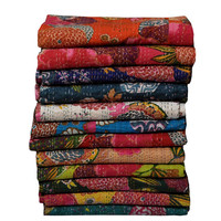 5 Pcs Wholesale Lot Of Kantha Quilts, Blankets, Bedspread, Bed Cover In Floral Design, Kantha Reversible Quilt Blankets, Queen Bedspread