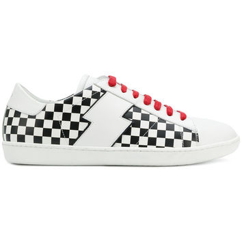 Amiri Check low-top Sneakers - Farfetch