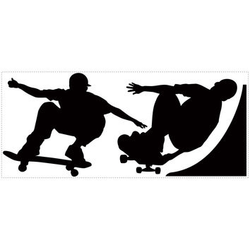 Roommates Decor Sticker Skaters Chalkboard Wall Decals