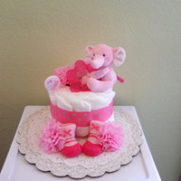 Pretty in Pink Girl Diaper Cake