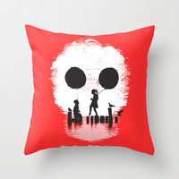 Bye Bye Apocalypse (red ver) Throw Pillow by Budi Satria Kwan