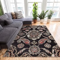 2925 Charcoal Gray Vintage Persian Oriental Area Rugs