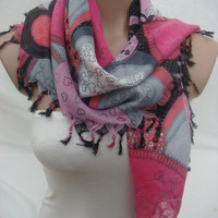 Traditional Turkish Yemeni Cotton Beaded Scarf by Arzu's Style