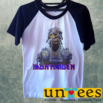 Iron Maiden Short Raglan Sleeves T-shirt