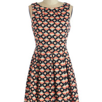 ModCloth Mid-length Sleeveless Collecting Carnations Dress