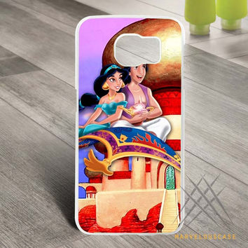 aladdin and jasmine 2 Custom case for Samsung Galaxy